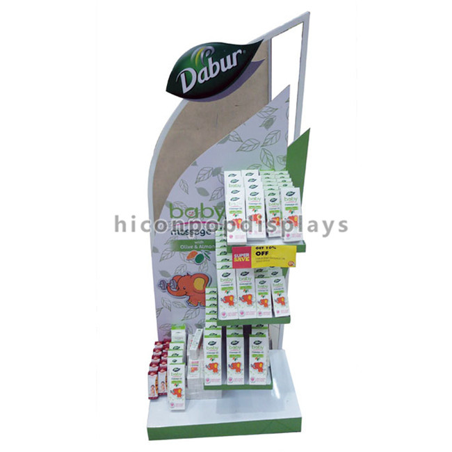 Qualified Custom Advertising Fixture Flooring Baby Products Retail Store Skin Care Display Rack