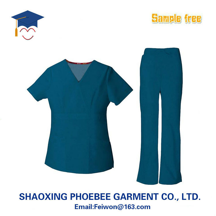 Fashionable medical scrub suit/scrub set/nurse hospital uniform designs