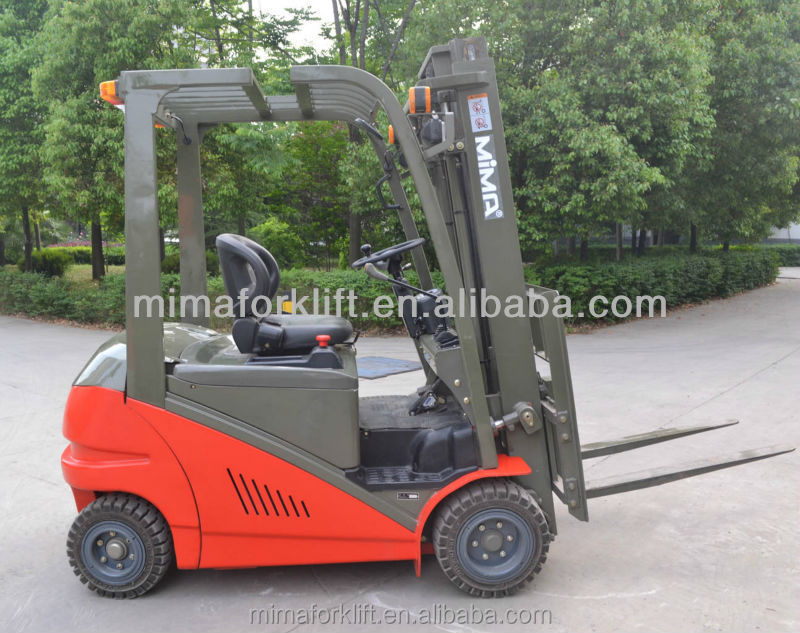 cheap prices 4wheels electric 1500kg ac motor battery forklift with axle steering