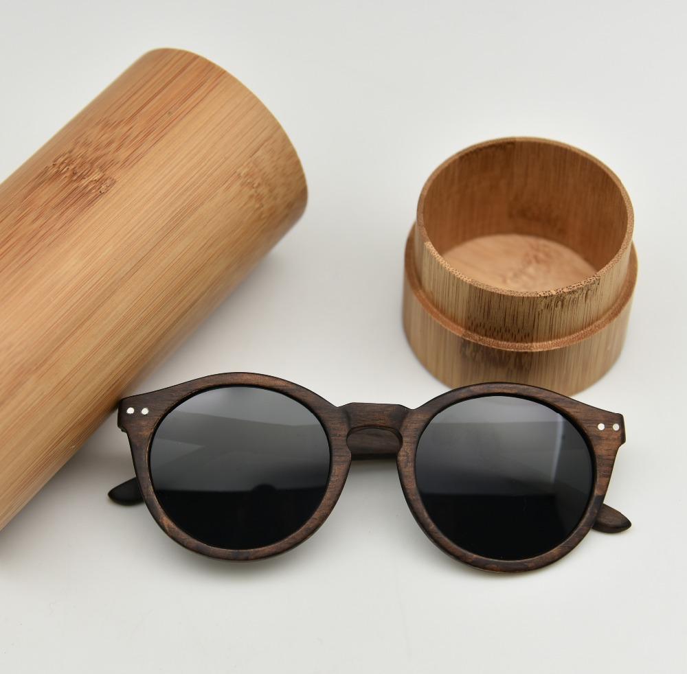 Pyrus madera gafas de sol con caja de bambú UV400 lente polarizada ...