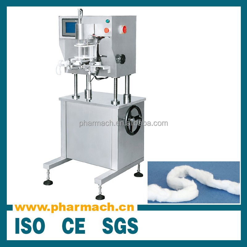 Automatic cotton inserting machine, cotton filling machine for pharmacy industry