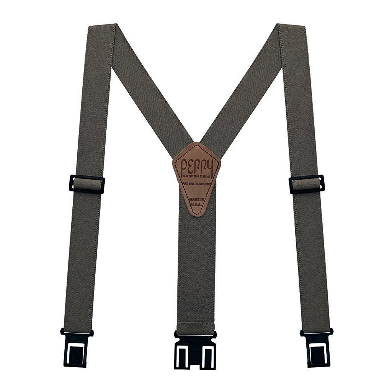 "Perry Hook-On Belt Suspenders Regular - The Original - Gray - 2""W x 48""L"