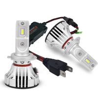 Super bright 9005 9006 brightest 10000lm 6000K H1 Car H11 9005 9006 Led Bulb F2 ZES H4 Led H7 Led Headlights