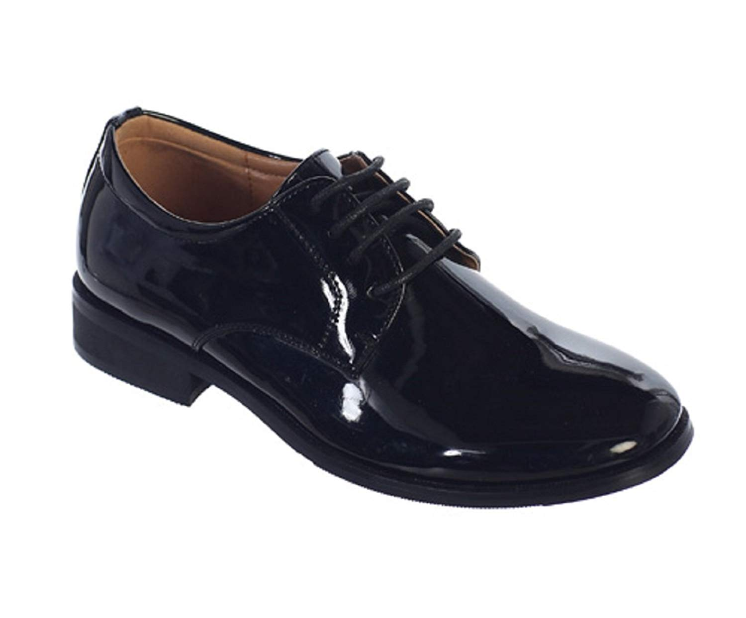 37dcebc89d636 Get Quotations · OLIVIA KOO Boys Classic Oxford Dress Shoes (Size Toddler 5  To Boy Youth 5)