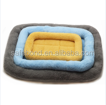 Wholesale microfiber absorbent Cosy Soft Plush Dog Bed Pet Mat