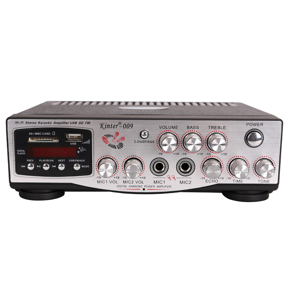 Kinter-009 AC 220 V 음 증폭기 audio power 증폭기 와 USB/SD/FM/MIC/digital display