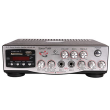 Kinter-009 AC 220 V Penguat Suara Audio <span class=keywords><strong>Power</strong></span> <span class=keywords><strong>Amplifier</strong></span> dengan USB/SD/FM/MIC/Tampilan Digital