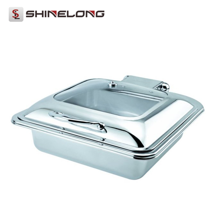 C059 All Types Wholesale Oblong Roll Top Induction Chafing Dishes For Catering For Sale