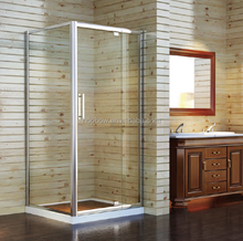 304 SUS Custom Made Square Bathroom Shower Enclosure Frameless Elegant Swing Pivot Door Opener