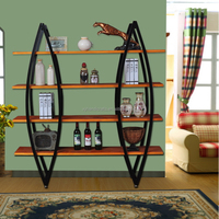 Durable Modern Decorative wrought iron wall shelf
