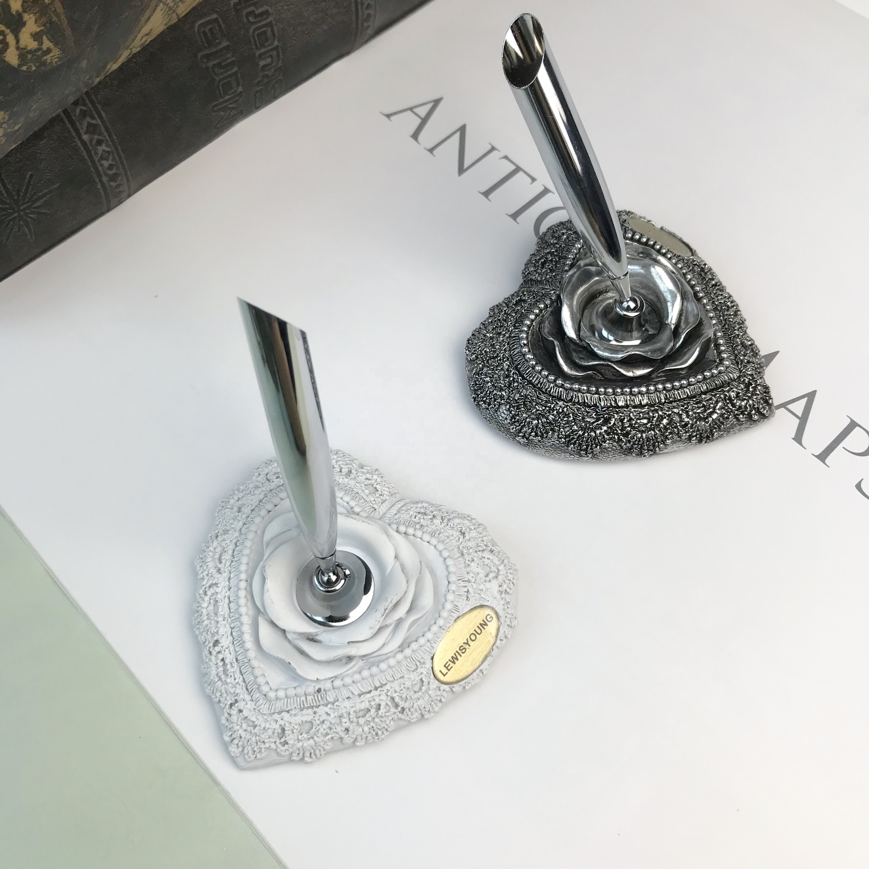 Kristall Brunnen Pen & Bleistift Halter Büro Liefert Desktop-Organizer Schreibtisch Dekoration Geschenk Idee