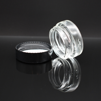 High Quality Low Profile 3ml 5ml 10ml wax weed oil rosin dab jar Air Tight Medical Concentrate containers 5ml glass jar