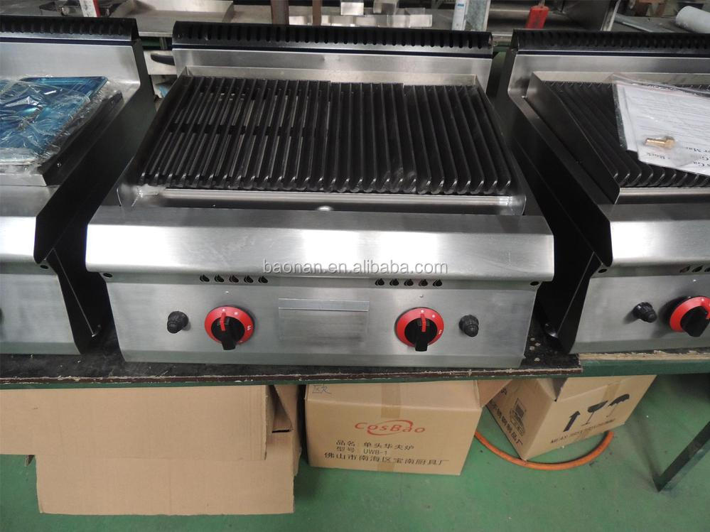 Restaurant Commerical Kitchen Equipment Gas Lava Rock En Grill Bn600 G606