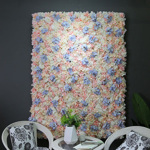 40*60cm artificial flower wall panels fabric decorative wall flowers panel for wedding