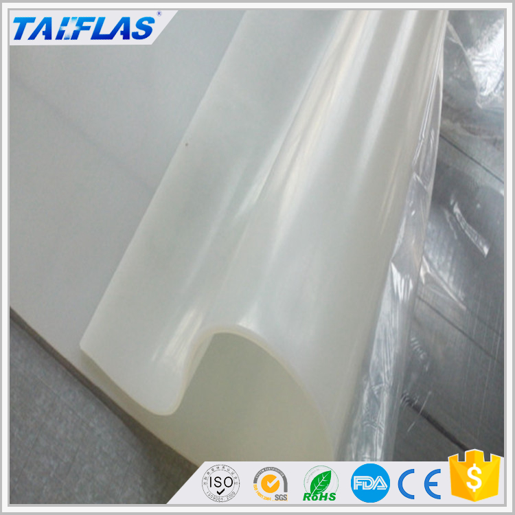 1mm 2mm 3mm Transparent or colored silicone rubber membrane for vacuum press