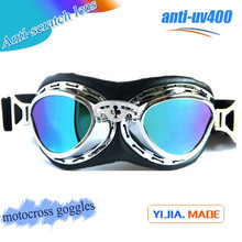 Top selling Motorcycle Goggles High Quality Steampunk Goggles Colorful Lens Motorcross Goggles