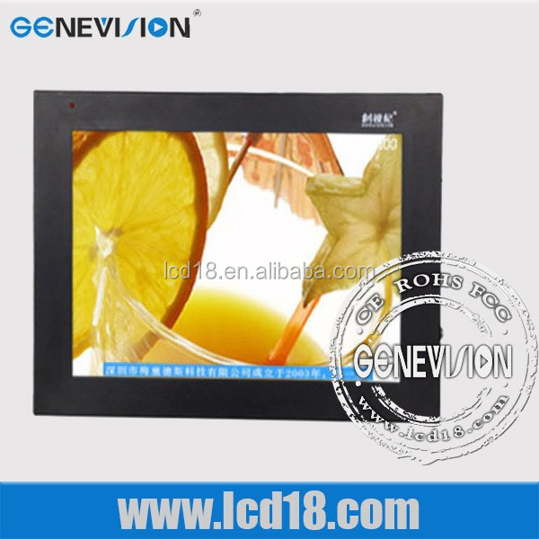 lcd wall mounted 15 inch android ad display for supermarket