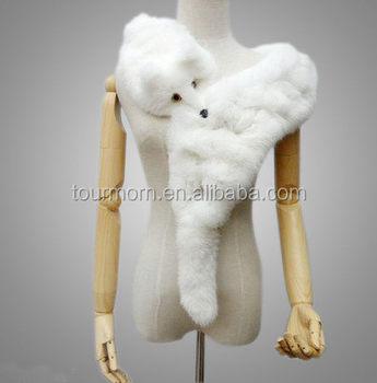 808673145fe81 White Fox Fur Scarf Pink Colorful Fox Fur Collar - Buy White Fox Fur ...