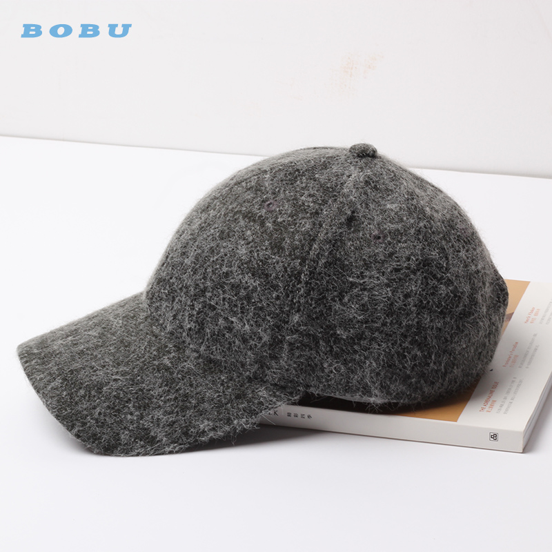 Customize Fashion Promotional Autumn Winter Wool Plain Baseball Hat <strong>Cap</strong>
