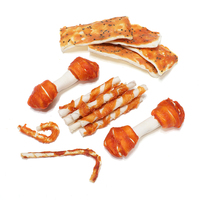Dog Chews Natural Roll Twist Sticks With Chicken Duck Fish Wrap For Dog Treat