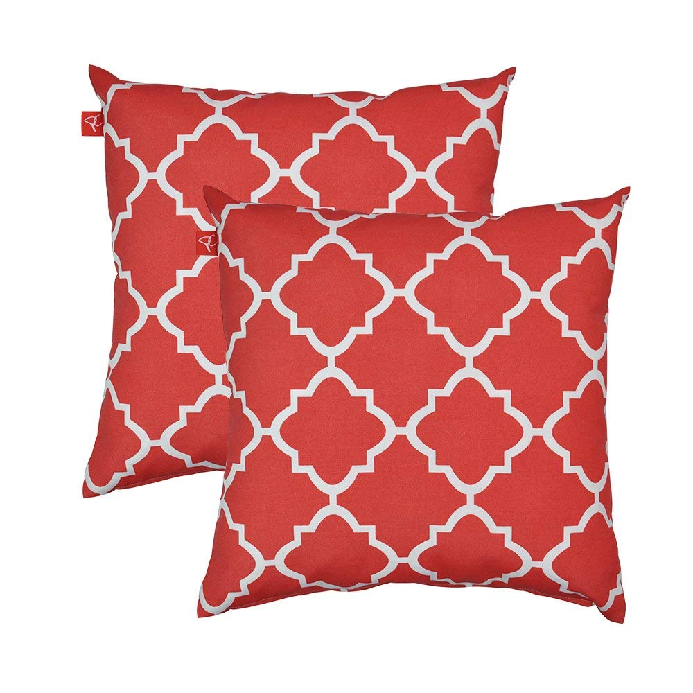 Get Quotations Pacificasual Decoration Throw Pillow Covers Square Toss Case Red And White Quatrefoil 18 X