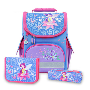 Good quality beautiful girls book backpack 300d school bag
