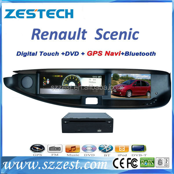 ZESTECH touch screen 2 din car dvd player for Renault Scenic car dvd player with gps portable dvd player with bluetooth
