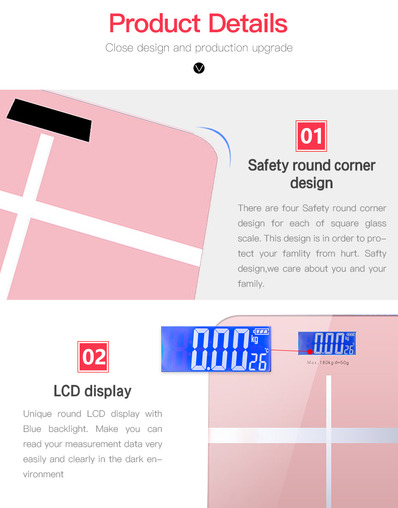 Usb Charge High Precision Digital Electronic Tempered Safety