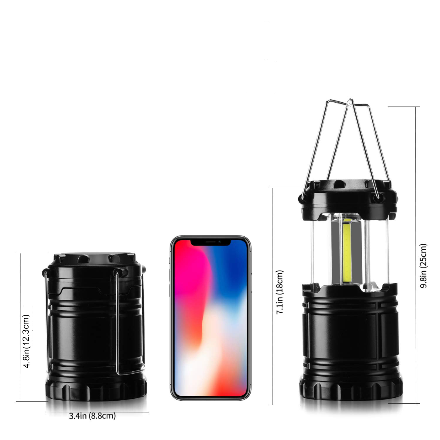 Get Free Sample Extendable Fishing Camping Lamp Telescopic Lantern 3w Led COB Outdoor Waterproof  Camping Light with Hook