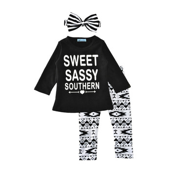 c8bc32bd8a1e Girls outfits boutique bling bling leggings clothing sets children black  t-shirt happy new year