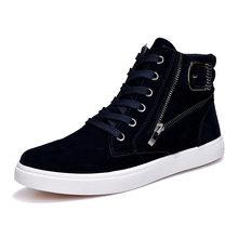 Новая парусиновая повседневная мужская обувь с высоким верхом, дышащие удобные кроссовки для скейтборда, баскетбола, бега, походная обувь(Китай)