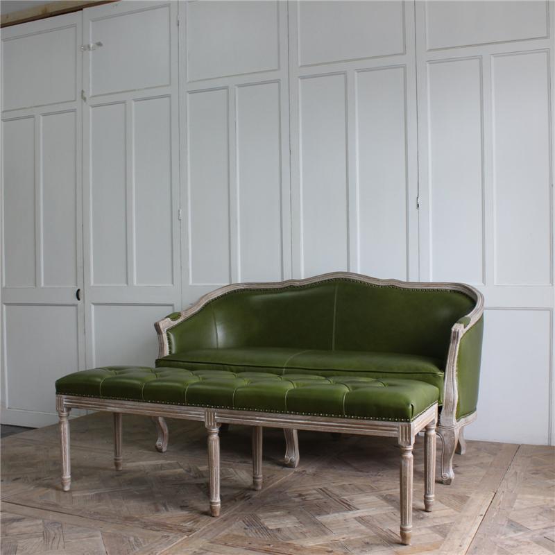 Casa Única, muebles de sala de estar de madera sofá de dos