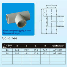 AS 2053 Electrical PVC Conduit Fitting solid tee