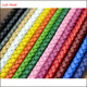 colours round 3mm braided leather cord for wholesale
