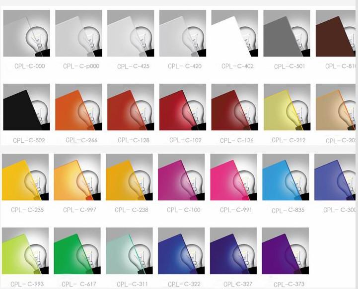 Acrylic sheet samples