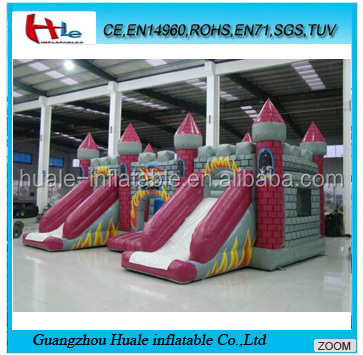 Hot sale inflatable jumping castle,inflatable fun city with double slide