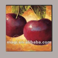 2012 New Red Apples Design Square Antique Canvas Painting