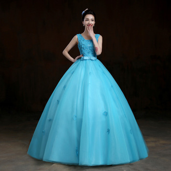Fashion Korean Style Women Evening Dress Wedding Party