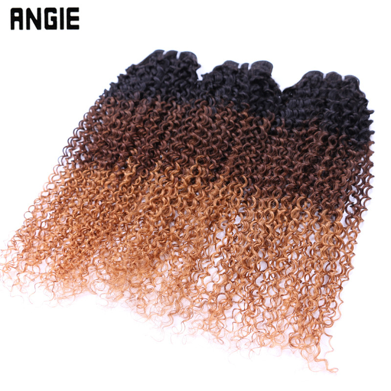 wholesale ombre color virgin remy brazilian human hair curly hair extension for black women