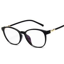 Модные прозрачные очки в оправе для женщин и мужчин, винтажные очки с имитацией стекла, женские прозрачные оптические очки в оправе(China)