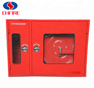fire extinguisher and fire hose reel box , double door fire cabinet