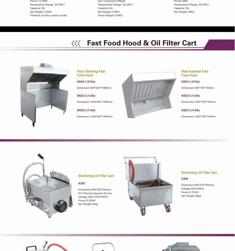 Restaurant Kitchen Equipment Dimensions commercial used fast food restaurant kitchen equipment machine