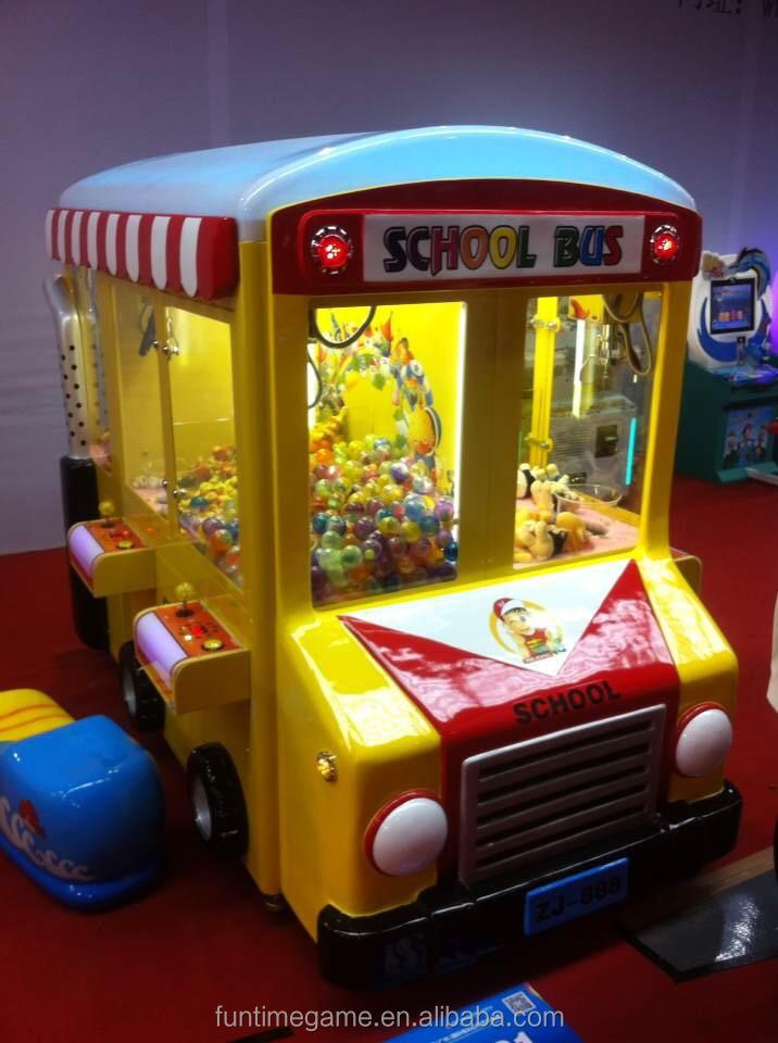 2015 Hottest School Bus Luxury Children Toy Crane Claw
