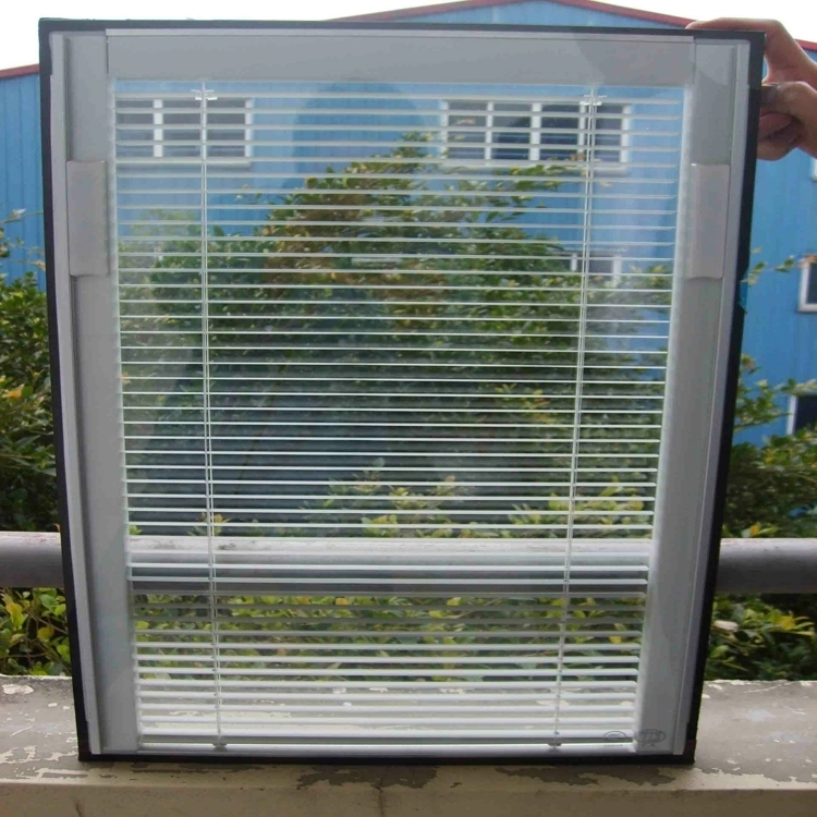 Door Blade Lowe Sliding Blind Double Roller  Louvre Windows Built-in shutter glass for doors and windows Insulated