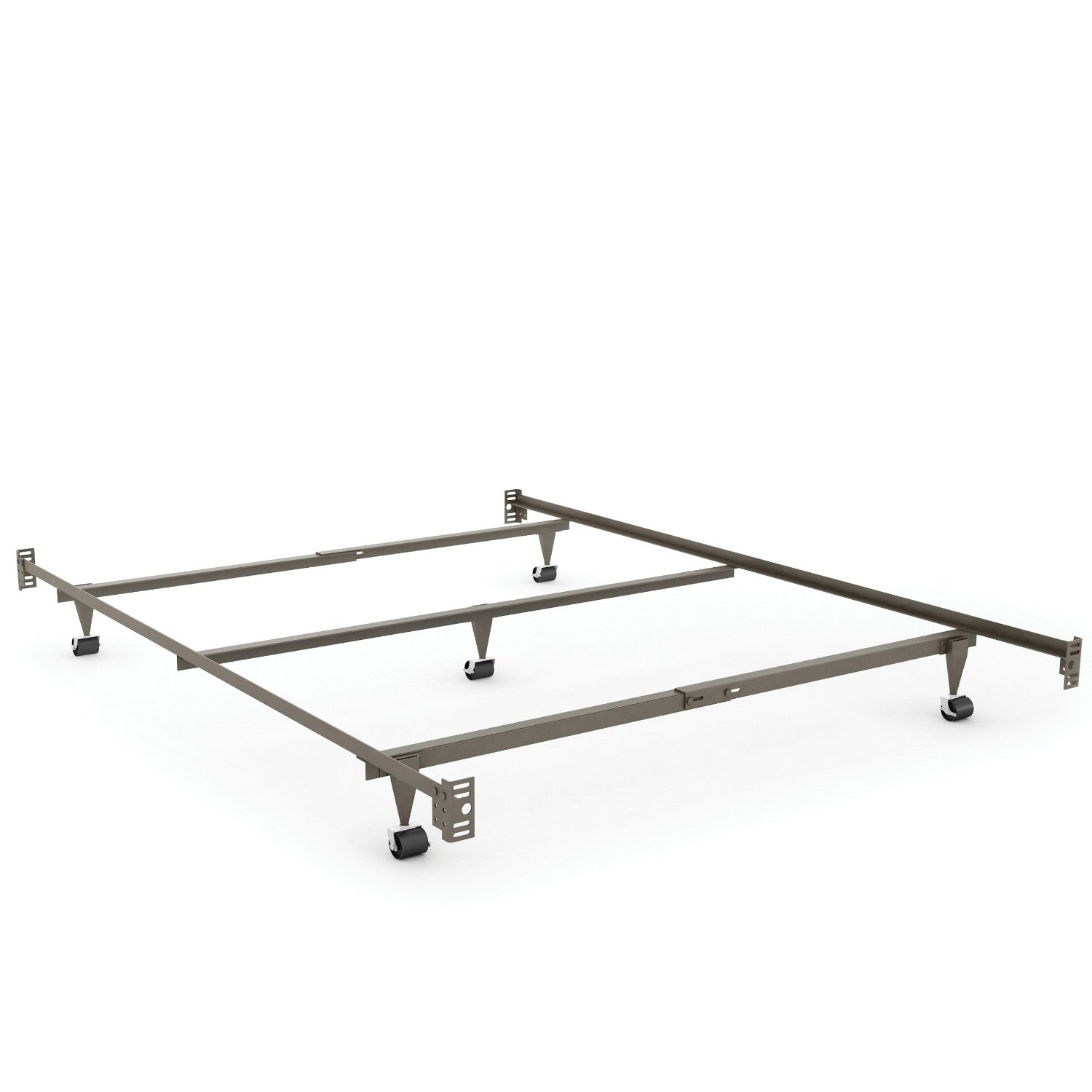 Sonax BQ-1130 Queen Size Steel Bed Rails with Head and Foot Board Attachment