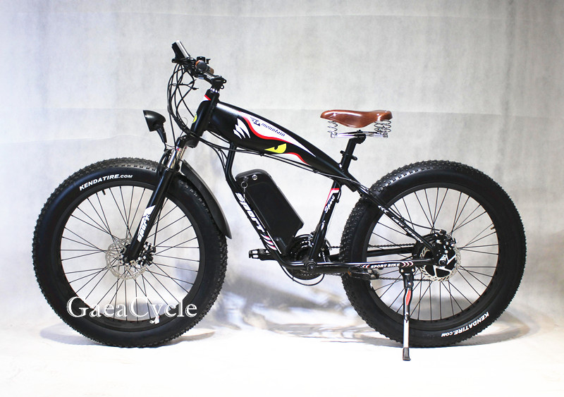 Gaea ebike frame full suspension fatbike electric beach cruiser fat tyre high speed bicycle