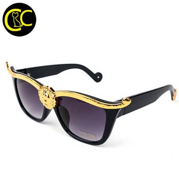 aca75ebf4 Fashion Medusa American Anna Karin Retro Cat Eye Sunglasses Lion Metal  Frame Women Sun glasses oculos