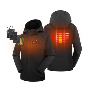 winter custom usb battery bluetooth safety ski hunting heated jacket 7.4v or 12v heated coats and warm clothing