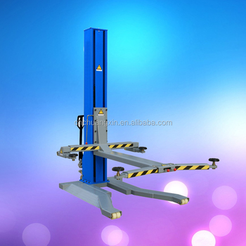 ground Settled 1 post hydraulic car lifting machine single post car lift