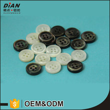 DIAN, Classic 18L Natural White & Black MOP Shell Buttons For Shirts